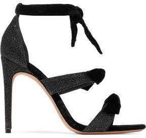 Alexandre Birman Mary Knotted Velvet And Metallic Woven Sandals