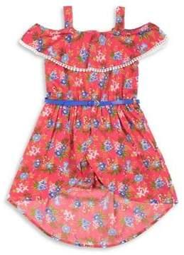 Little Lass Little Girl's Floral-Print Romper