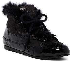 Manas Design Genuine Rabbit Fur Leather Sneaker
