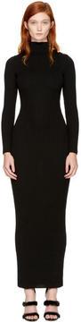 Balmain Black Knit Turtleneck Dress