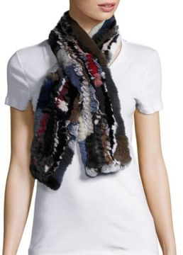 Surell Rex Rabbit Fur Scarf