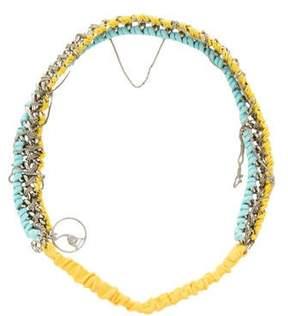 Maison Michel Suede Chain-Link Headband