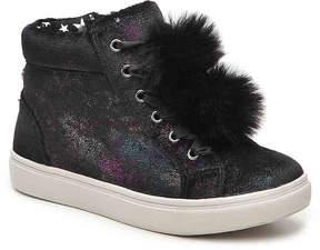 Steve Madden Girls Brielle Youth Velvet High-Top Sneaker