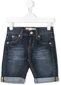 Levi's Kids five pockets denim shorts