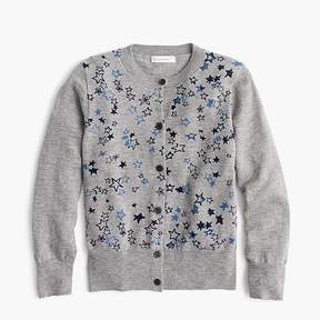 J.Crew Girls' star-covered cardigan sweater