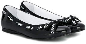 Fendi logo band ballerinas