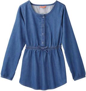 Joe Fresh Kid Girls' Denim Tunic, Medium Wash (Size XL)