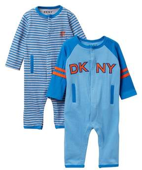 DKNY All Star Coveralls - Pack of 2 (Baby Boys 0-9M)