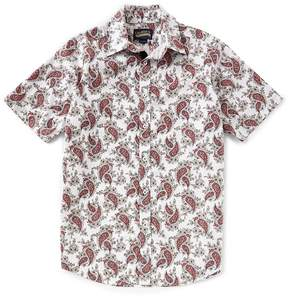 Daniel Cremieux Jeans Big and Tall Paisley Short-Sleeve Woven Shirt