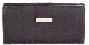 Gucci Guccissima Continental Wallet - BLACK - STYLE
