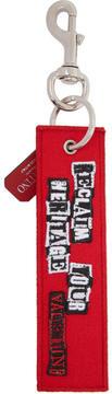 Valentino Red Garavani Punk Poem Keychain