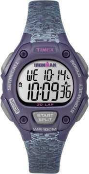 Timex IRONMAN Essential TW5M075009J Gray Purple Resin Digital Unisex Watch