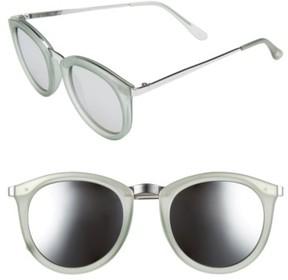 Le Specs Women's No Smirking 50Mm Sunglasses - Olive Rubber/ Silver