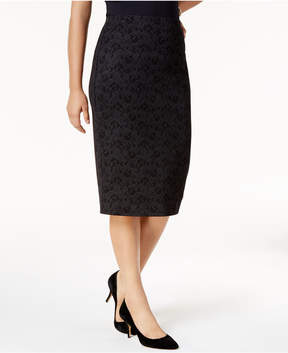 Alfani Metallic Lace Midi Skirt, Created for Macy's