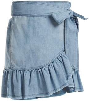 Etoile Isabel Marant Asymetric front-frill skirt