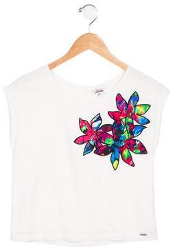 Junior Gaultier Girls' Nelcy Patterned Top w/ Tags