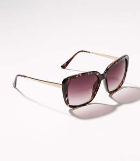 LOFT Glitter Glam Square Sunglasses