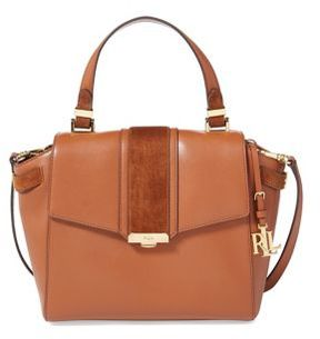 Lauren Ralph Lauren Timeless Leather Satchel