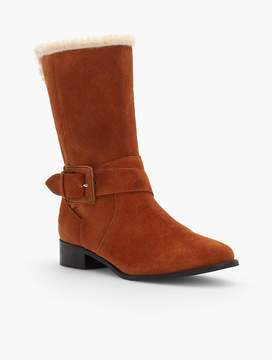 Talbots Tish Suede Wrap Buckle Boots