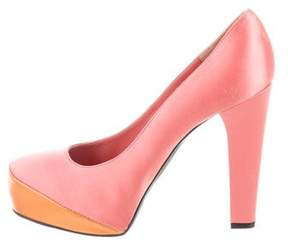Nina Ricci Cap-Toe Satin Pumps