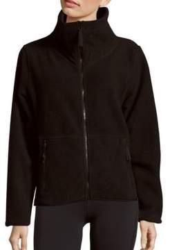 Betsey Johnson Faux Shearling Polar Fleece Zip Jacket