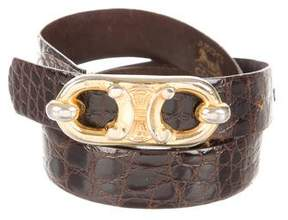 Celine Alligator Waist Belt