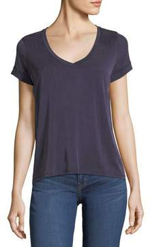 Neiman Marcus Majestic Paris for Rolled-Cuff Linen T-Shirt