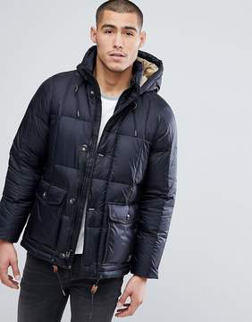 Abercrombie & Fitch Puffer Jacket Hooded in Black