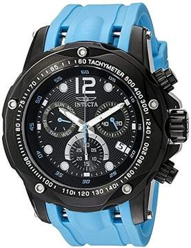 Invicta Speedway Chronograph Black Dial Light Blue Polyurethane Mens Watch 20075