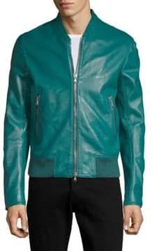 Diesel Black Gold Laston Leather Bomber Jacket