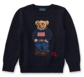 Polo Ralph Lauren Bear Cotton Sweater Hunter Navy 3T