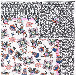 Valentino Popflowers and Graphic Waves printed scarf