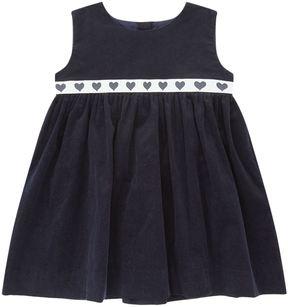Rachel Riley Heart Trim Pinafore Dress