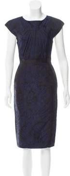 Andrew Gn Jacquard Midi Dress