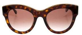 Stella McCartney Tortoiseshell Chain-Link Sunglasses