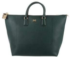 Dolce & Gabbana Vitello Shopping Satchel w/ Tags