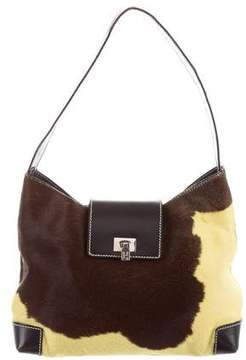 Lambertson Truex Leather-Trimmed Ponyhair Bag
