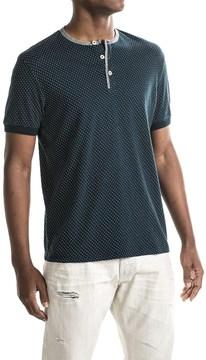Report Collection Dot Henley Shirt - Short Sleeve (For Men)