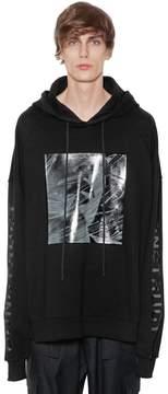 Juun.J Hooded Printed Cotton Sweatshirt