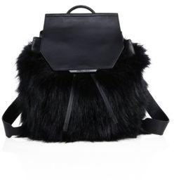 KENDALL + KYLIE Nancy Faux Fur Mini Backpack