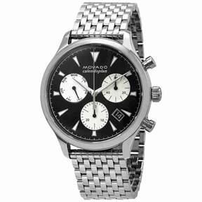 Movado Heritage Chronograph Black Dial Men's Watch 3650014