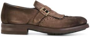 Santoni brogue detail monk shoes