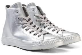 Converse Silver Junior Chuck Taylor All Star Hi-Tops