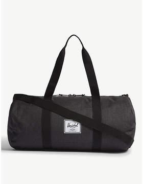 Herschel Black Crosshatch Woven Co. Duffel Bag