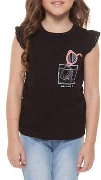 Dex Little Girl's Sunglasses-Print Tee