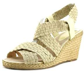 Andre Assous Dennie Women Open Toe Synthetic Tan Wedge Sandal.