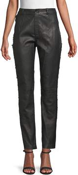 Fleur Du Mal Women's Lace Leather Pants