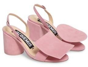 Jacquemus Women's Les Rond Carre Suede Sandal