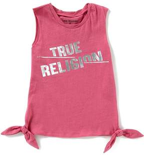 True Religion Big Girls 7-16 Muscle Tie Tank