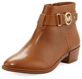 MICHAEL Michael Kors Harland Vachetta Leather Logo Bootie